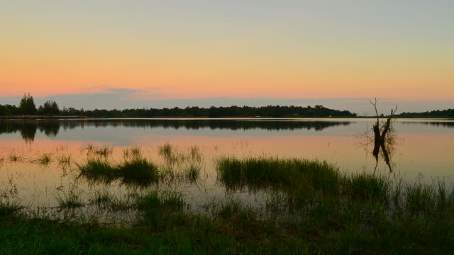 time-lapse: lake scenic landscape at sunset - hd 25 fps stock videos & royalty-free footage