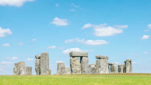 time-lapse: landscape of stonehenge england united kingdom, unesco world heritage site. - obelisk stock videos & royalty-free footage