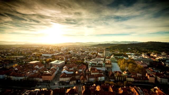 HD-Zeitraffer: Ljubljana Sonnenuntergang
