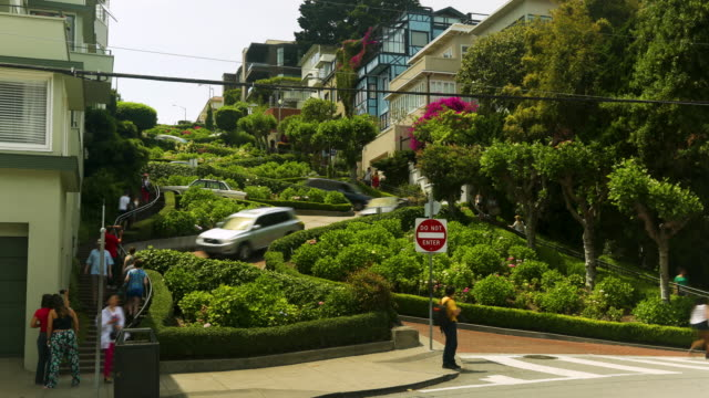 timelapse lombard st. - lombard street san francisco stock videos & royalty-free footage