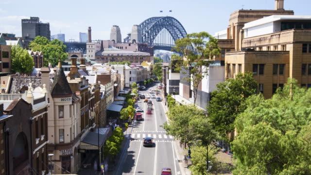 4k timelapse long exposure sydney city from the rocks - 社会史点の映像素材/bロール
