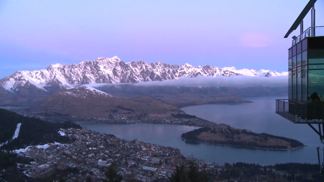 timelapse looking over queenstown new zealand nz - queenstown stock videos & royalty-free footage