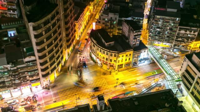 Time-lapse: Macau Skyline Cityscape main street at night