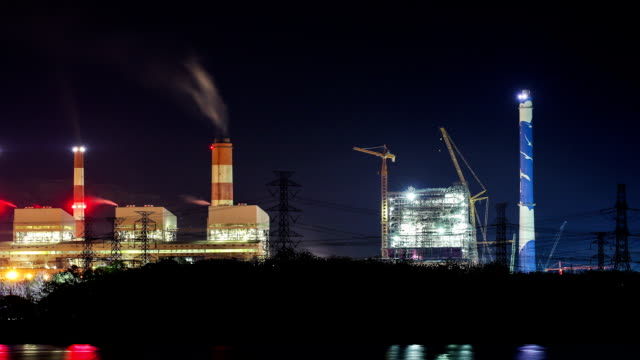 Timelapse Mae Moh coal power plant in Lampang, Thailand.