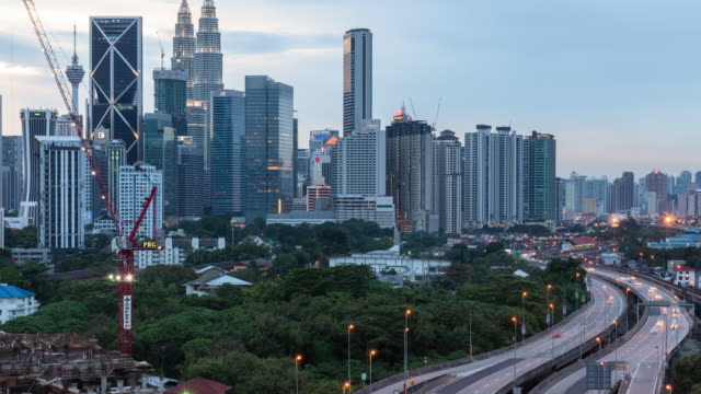 time-lapse Malaysia city, panning right video 4k.