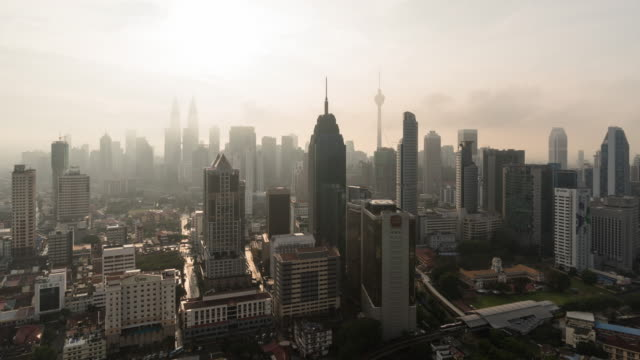 time-lapse Malaysia city, Zoom out video 4k.