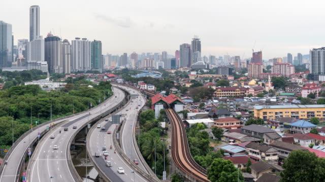 time-lapse Malaysia city,Tilt down video 4k.