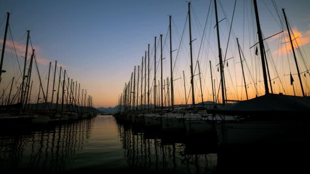timelapse marina - marmaris stock videos & royalty-free footage