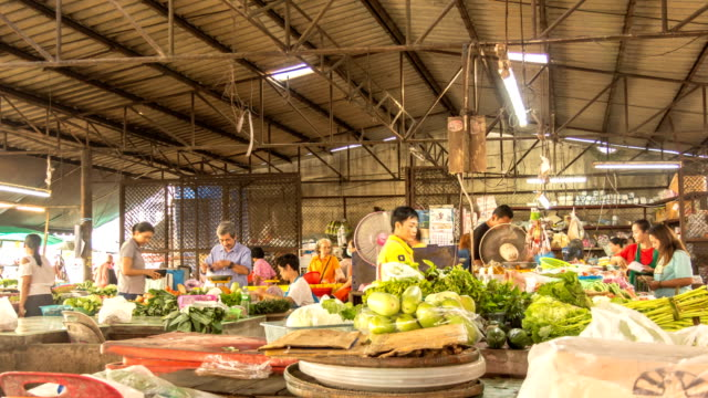 time-lapse market morning - songkhla province stock videos and b-roll footage