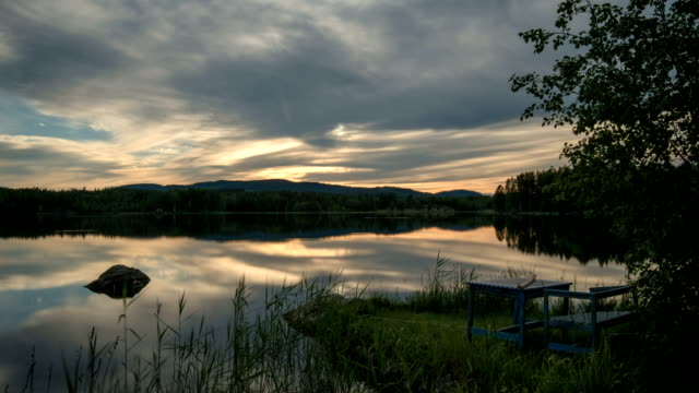 timelapse midsummer - summer solstice stock videos and b-roll footage