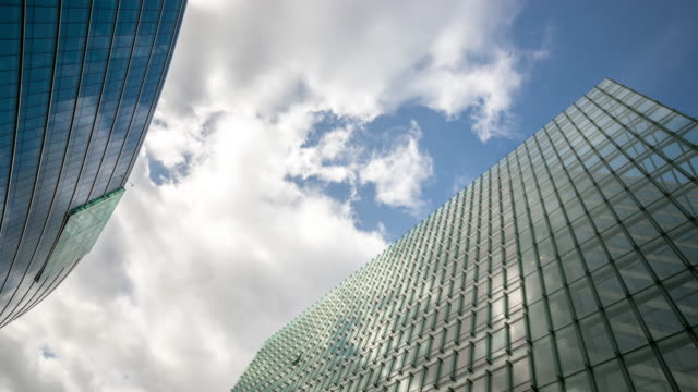 4 K Time-lapse : Ufficio moderno paesaggio urbano di sfondo Bruxelles Belgio