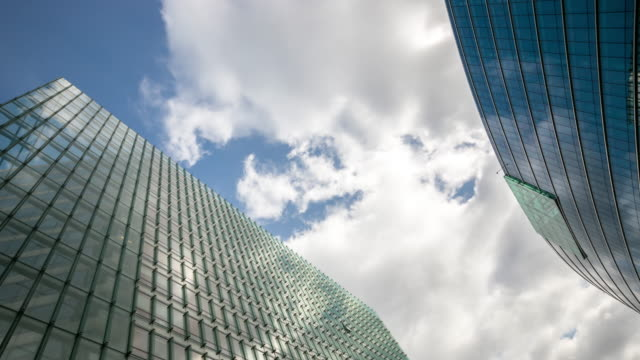4K Time-lapse: Modern Office Background Brussels Cityscape Belgium