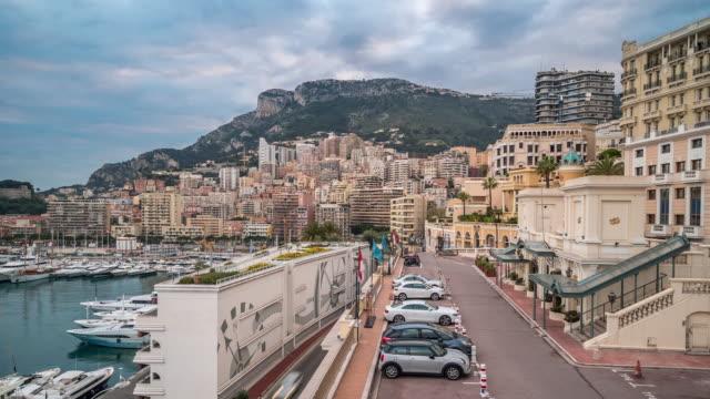 time-lapse: monaco monte carlo french riviera - monte carlo stock videos & royalty-free footage
