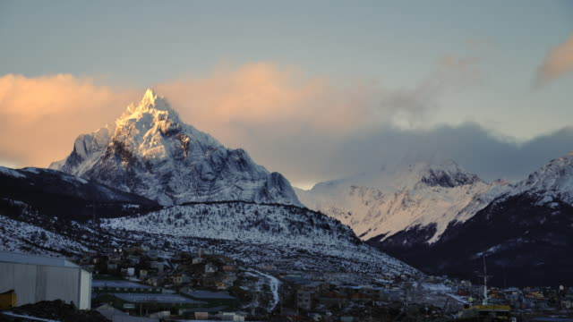 timelapse monte olivia - ushuaia argentina - argentina stock videos and b-roll footage