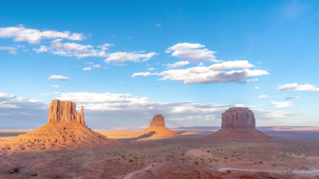 Time-lapse Monument Valley Navajo Tribal Park dans l'Utah USA