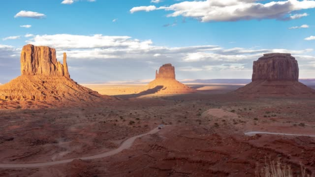 time-lapse monument valley navajo tribal park in utah usa - monument valley stock videos & royalty-free footage