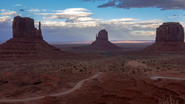 time-lapse monument valley navajo tribal park in utah usa - sedimentary rock stock videos & royalty-free footage