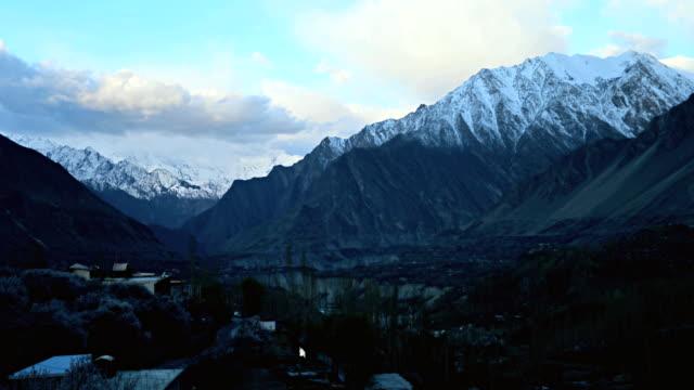 timelapse morning in Hunza Valley Pakistan