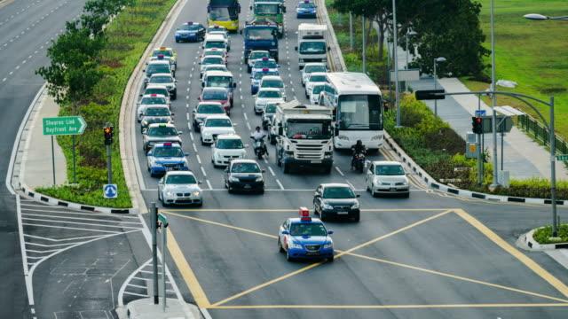 HD Time-lapse: Motorway/Highway Traffic, Singapore