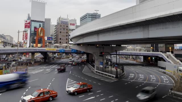 4 K コマ: 高速道路/高速道路交通、東京、日本
