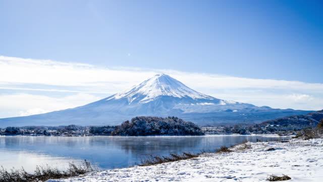 timelapse Mountain Fuji in Japan
