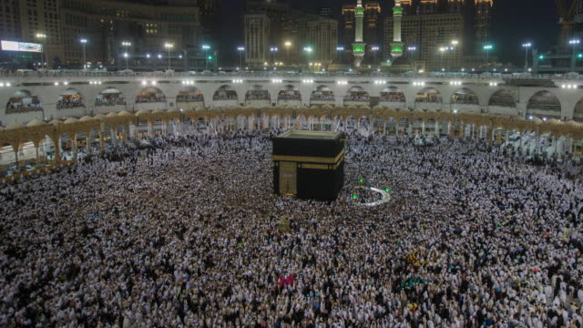 timelapse muslim praying in saudi arabia - mecca stock videos and b-roll footage
