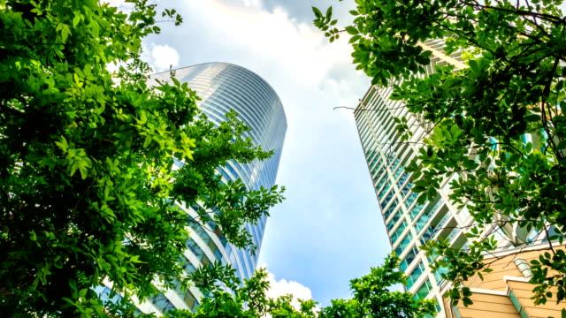 Time-Lapse: Nature dans la capitale, les bâtiments ministériels dans le ciel et le soleil.