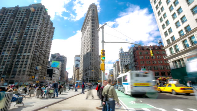 HD time-lapse: New York City Broadway Fifth Avenue