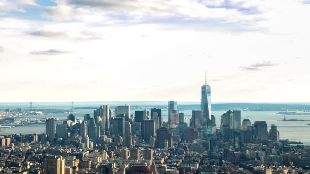 Time-lapse in HD: New York City Skyline Veduta aerea