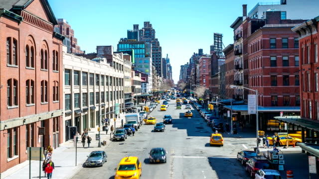 time-lapse in hd: new york city - new york stato video stock e b–roll