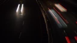 timelapse night highway