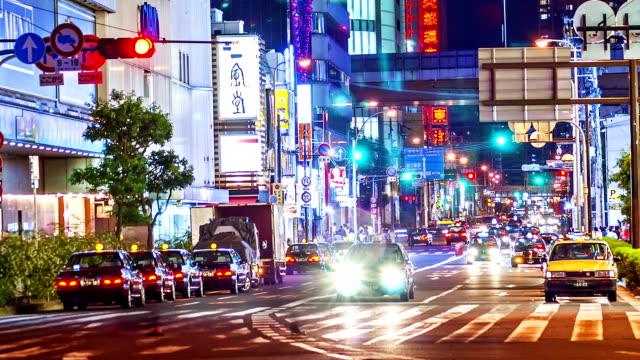 HD Time-lapse: Nacht leven - Crowded Osaka street, Japan.