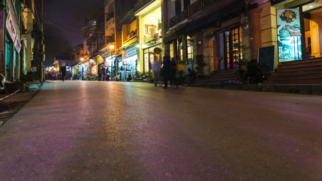 HD time-lapse : Night road Night life in hanoi ,vietnam