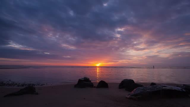 4 K Timelapse nuit et jour: lever du soleil matin.