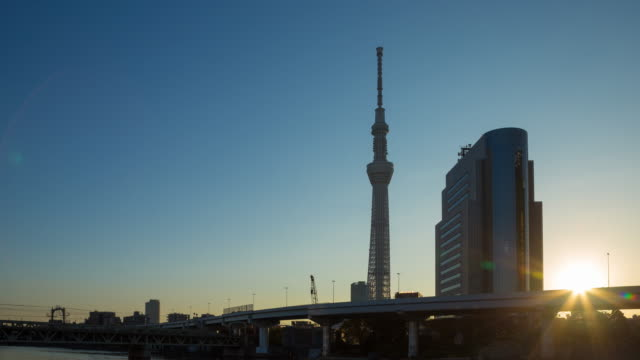 4k timelapse night to day: tokyo sky tree. - arranging stock videos and b-roll footage