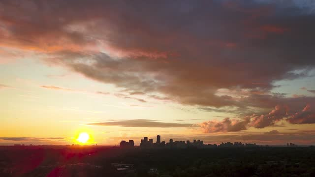 time-lapse :north york skyline at night,toronto - ontario canada stock videos & royalty-free footage