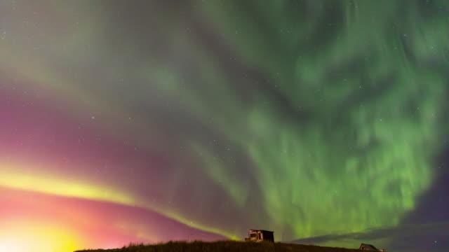 4K Time-lapse: Northern Light Aurora Borealis at Keflavik, Iceland, Apple ProRes 422 (HQ) 3840x2160 Format