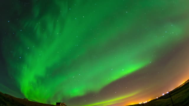 4k time-lapse: northern light aurora borealis at keflavik, iceland, apple prores 422 (hq) 3840x2160 format - reykjavik stock videos and b-roll footage
