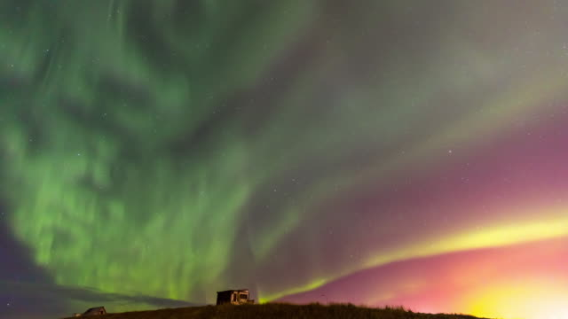 4K Time-lapse: Northern Light Aurora Borealis at Keflavik, Iceland, Apple ProRes 422 (HQ) 3840x2160 Format