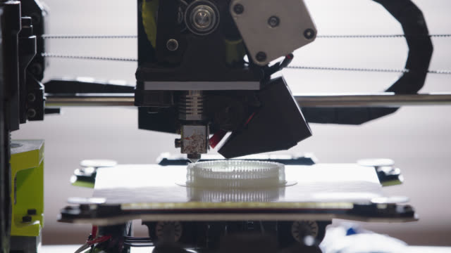 cu. timelapse of 3d printer creating intricate three-dimensional model in modern technological workplace. - 3d printing stock videos & royalty-free footage