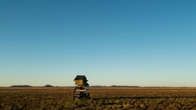 Timelapse of a 4x4 vehicle in the Karoo