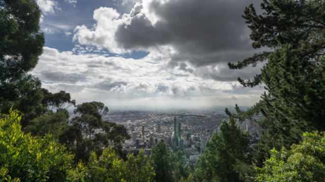 timelapse of a colombian city on a cloudy day - development stock videos & royalty-free footage
