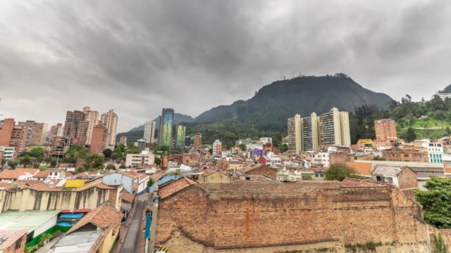 timelapse of a colombian town on a cloudy day - south american culture stock videos & royalty-free footage