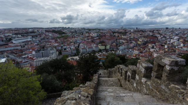 Timelapse of a panoramic view on Lisbon