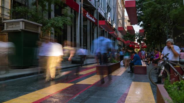 Timelapse of a pedestrian street in Santiago de Chile