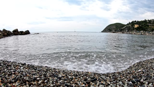 timelapse of a sea in liguria - liguria stock videos & royalty-free footage