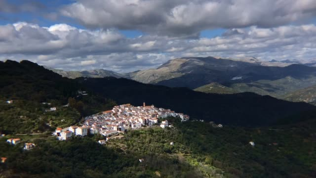 time-lapse of a small town on a hill south of spain - puebloan peoples stock videos & royalty-free footage