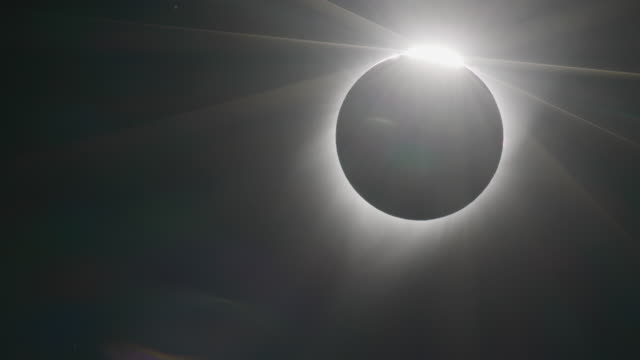 timelapse of a total solar eclipse - wyoming stock videos & royalty-free footage