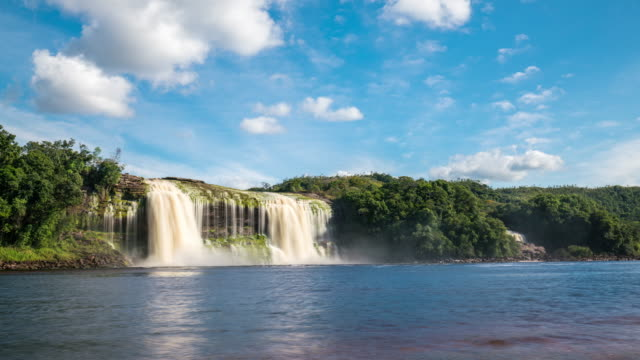 Timelapse of a Waterfall in Canaima