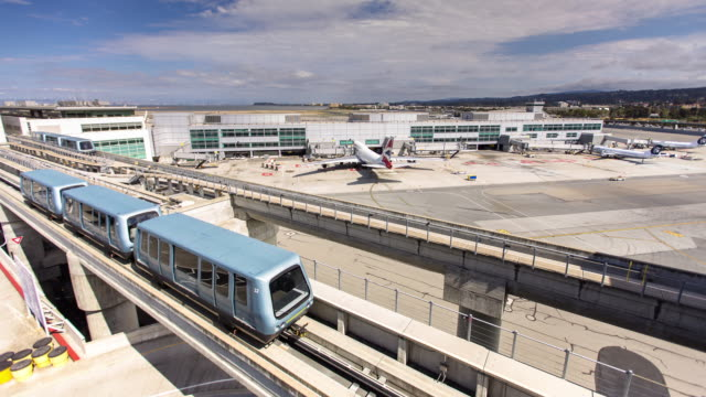 Timelapse of Airplanes and Ground Transportation at SFO